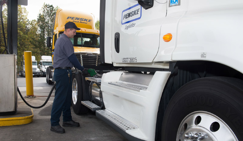 Fueling a truck