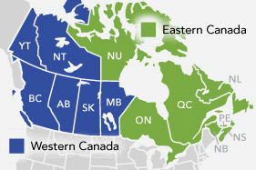 Canada fleet and dealers map