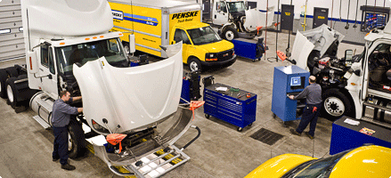 Penske has 100,000 network shops nationwide. Source: National Private Truck Council